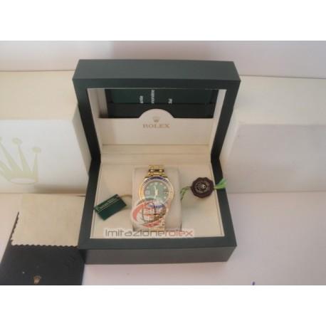 rolex replica pearlmaster oro giallo blue yellow bezel orologio copia imitazione