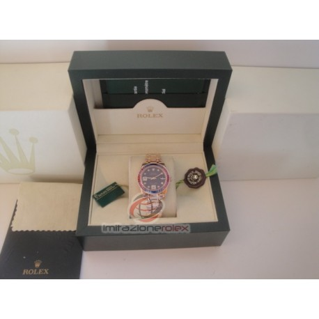 rolex replica pearlmaster rose gold pink blue bezel orologio copia imitazione