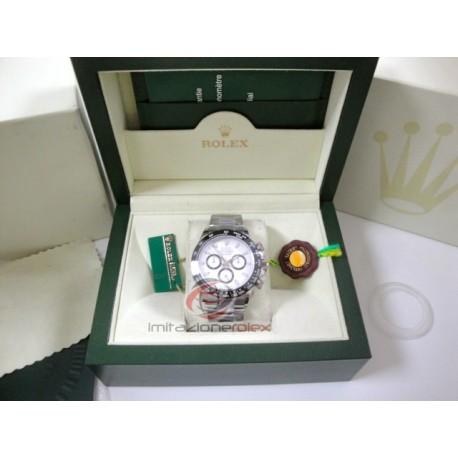 rolex replica daytona acciaio ceramica quadrante bianco orologio copia imitazione