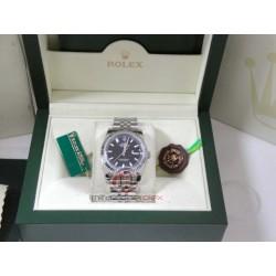rolex replica datejust acciaio nero indici orologio copia imitazione
