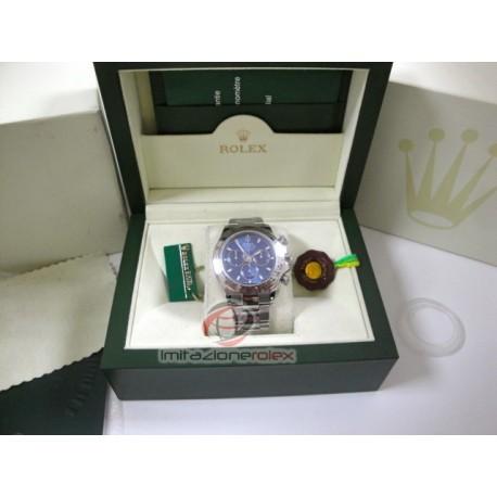 rolex replica daytona new oro bianco quadrante blu orologio copia imitazione