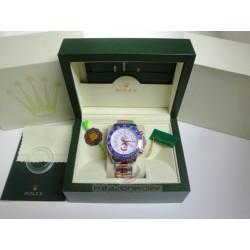 rolex replica yacht master II regatta ceramichon acciaio rose gold blue bezel orologio copia imitazione