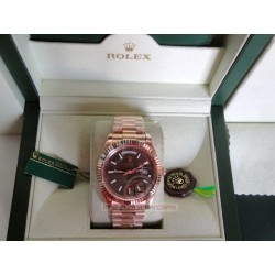 rolex replica day-date oro rosa brown dial orologio copia imitazione