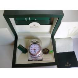 rolex replica explorer II 42mm white dial basilea orologio copia imitazione