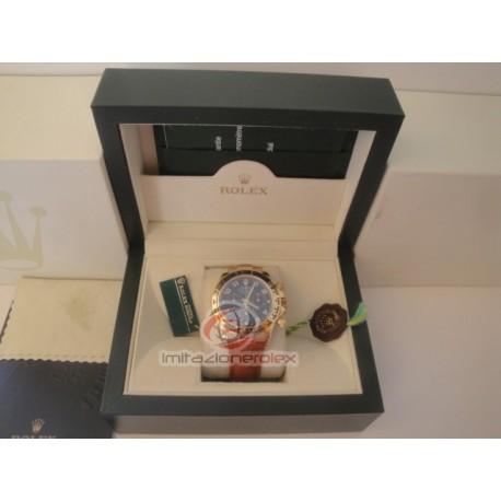 rolex replica daytona oro cinturino pelle vip 116509 orologio copia imitazione