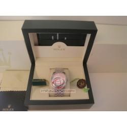 rolex replica datejust acciaio flower rosèè edition orologio copia imitazione