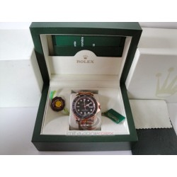 rolex replica yacht master I rose gold strip leather orologio copia imitazione