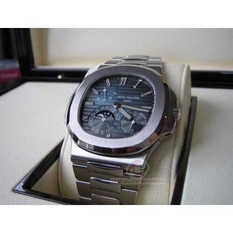 patek philippe replica nautilus 5712 blue dial orologio copia imitazione