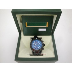 breitiling replica avenger II pro-hunter PVD strip rubber black dial blue sapphire