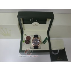 rolex replica GMT master II ceramichon rose gold black dial strip rubber orologio copia imitazione