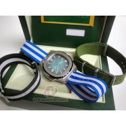 patek philippe replica nautilus blue dial cordura orologio copia imitazione