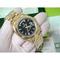 rolex replica day-date ll oro giallo black dial orologio copia imitazione