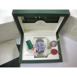 rolex replica datejust acciaio quadrante blu diamanti orologio copia imitazione