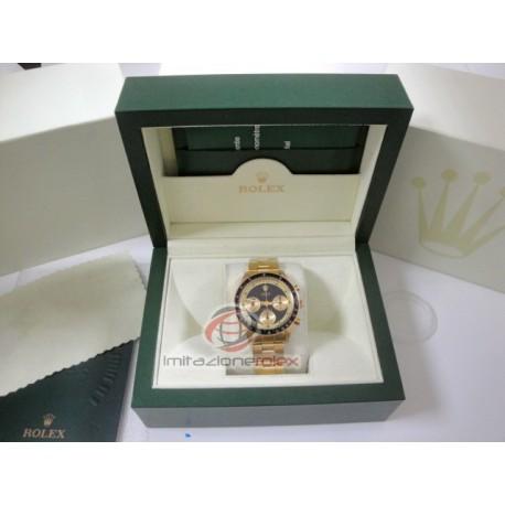 rolex replica daytona vintage paulnewman oro quadrante nero orologio copia imitazione