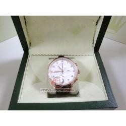 iwc replica portoghese rose gold strip leather chrono orologio copia imitazione
