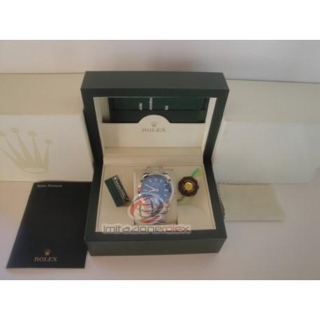 rolex replica milgauss blue dial green sapphire orologio copia imitazione