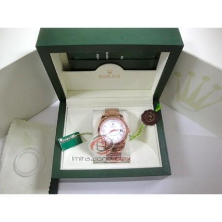 rolex replica day-date oro rosa quadrante bianco orologio copia imitazione