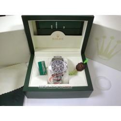 rolex replica daytona acciaio classico quadrante nero orologio copia imitazione